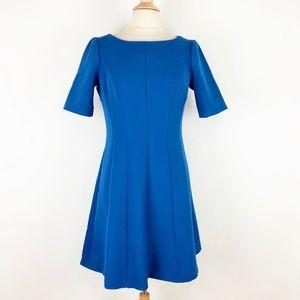 NEW Ann Taylor Petite 12P Blue Career Dress